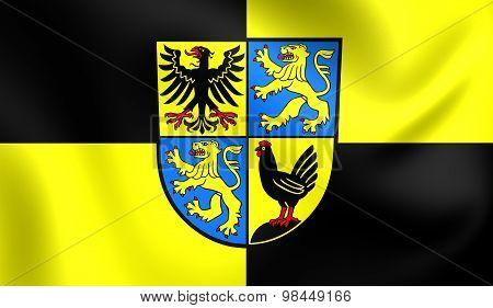 Flag Of Ilm-kreis, Germany.