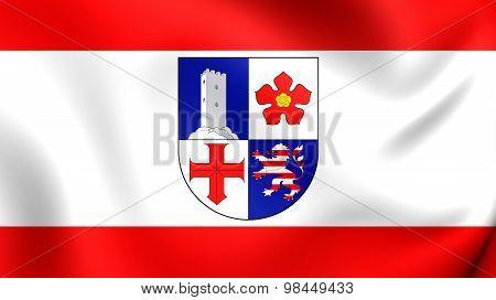 Flag Of Bergstrasse Kreis, Germany.
