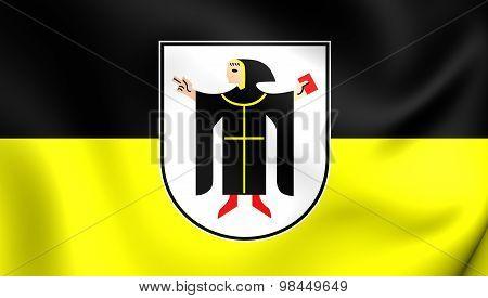 Flag Of Munchen City, Germany.