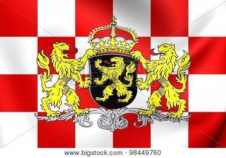 Flag Of North Brabant Province, Netherlands.
