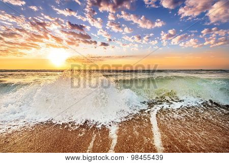Gold Coast Australia Beach Sunrise Over Ocean