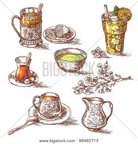 Various Teas Set