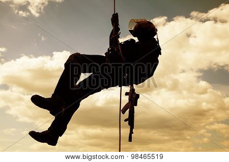 rappeling assault