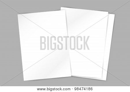 Vector brochure blank template. Abstract flyer design and creative magazine idea, 3d blank, book cov