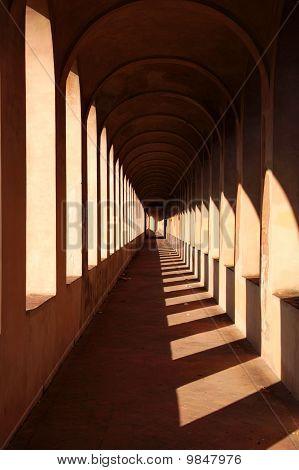 passage with light
