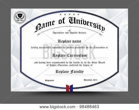 Certificate of achievement template. Diploma design template. vector illustration. poster