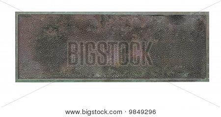 Old Bronze Plaque