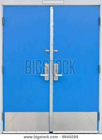 Old School Door Blue