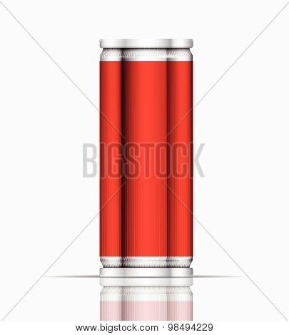 Red Can Vector Visual 330 Ml & 500 Ml, Ideal For Cola, Soft Drinks, Soda, Fizzy Pop, Lager, Alcohol,