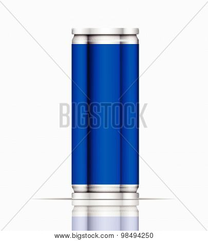 Blue Can Vector Visual 330 Ml & 500 Ml, Ideal For Cola, Beer, Lager, Alcohol, Soft Drinks, Soda, Fiz