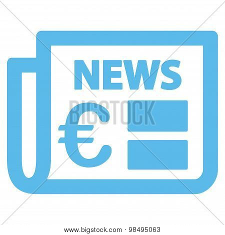 Newspaper icon from BiColor Euro Banking Set