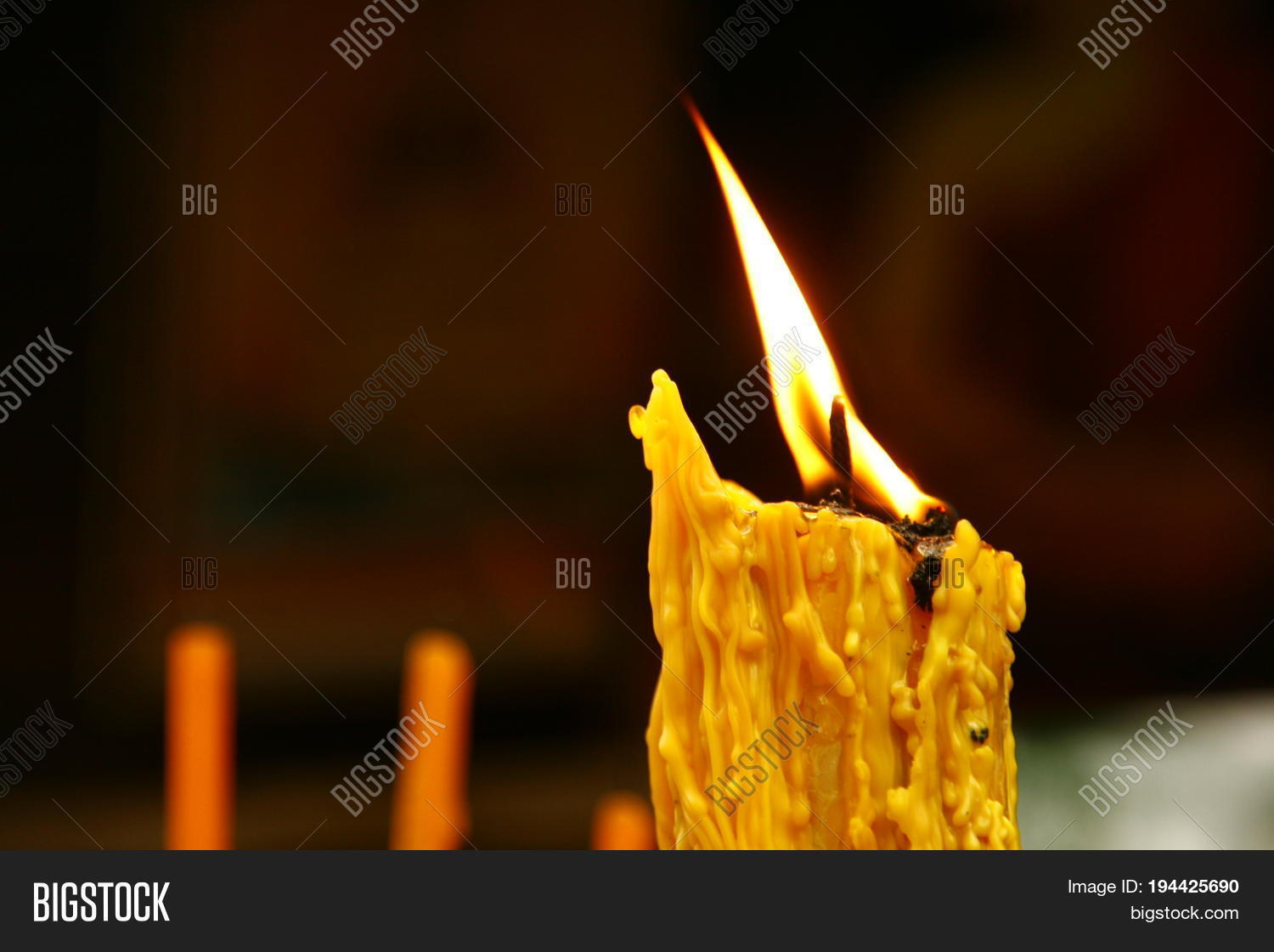 Lighted Candle Lit Image & Photo (Free Trial) | Bigstock