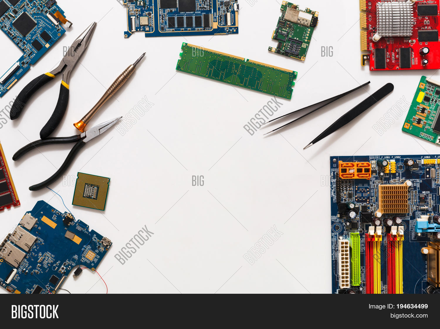 Computer Repair Image Photo Free Trial Bigstock Electronic Circuit Board Royalty Stock Photography And Upgrade Background Copy Space Motherboard Top View Flat Lay