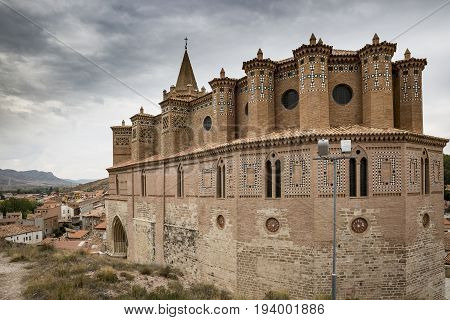 the Church of Santiago at Montalban town, province of Teruel, Spain