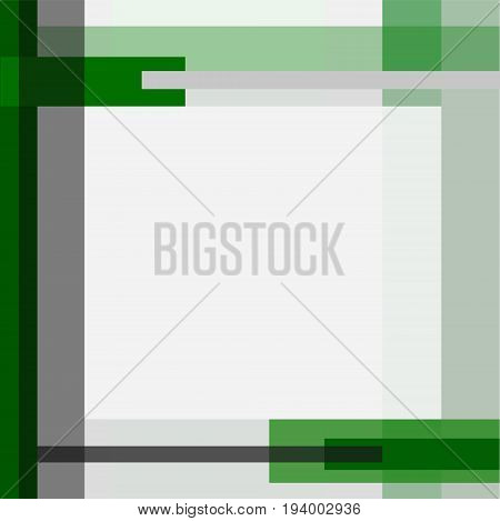 Severe geometric vector background in deep green, gray and white. Layout, tamplate for covers, flyers, posters with place for text