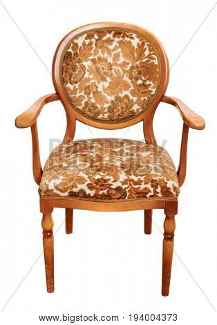 Vintage chair. Isolated on white