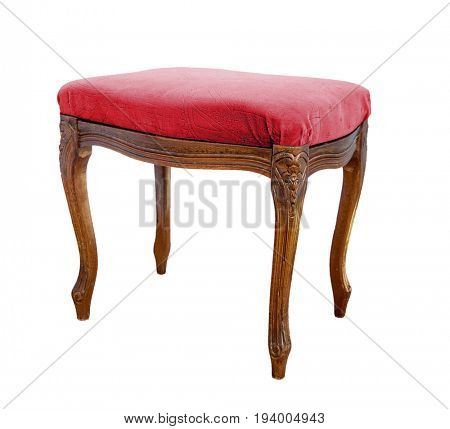 Vintage Ottoman. Isolated on white