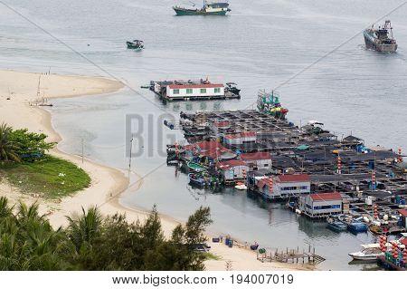 Linshui Hainan China April 24 2017 - Fisherman's Village