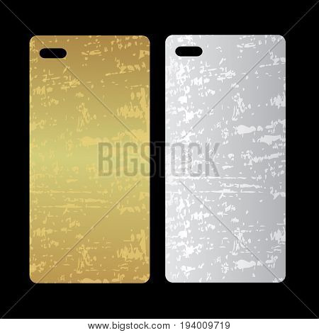 Metal phone case. template cover phone or case smartphone. Mobile phone modern cover back
