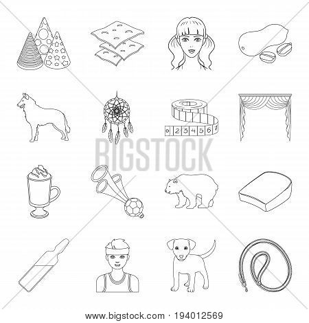 sport, medicine, animal and other  icon in outline style.atelier, food, cooking icons in set collection.