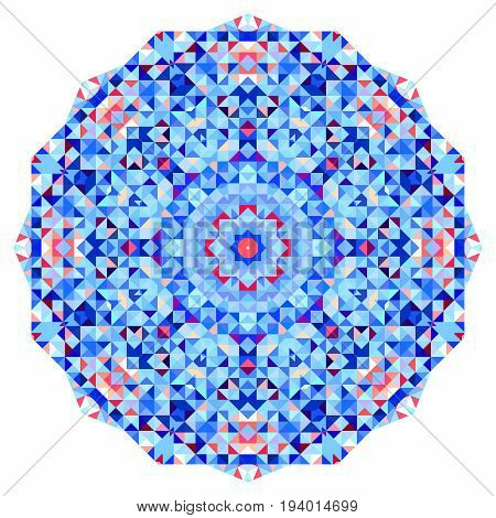 Abstract colorful circle backdrop. Geometric vector mandala. Mosaic banner of geometric shapes