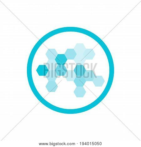 Nanotechnology Blue Round Icon