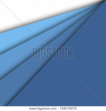 Blue paper overlapping abstract background, stock vector