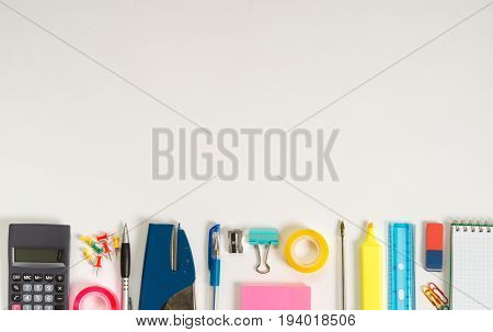Stationery background, large copy-space