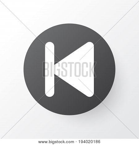 Backward Icon Symbol. Premium Quality Isolated Start Element In Trendy Style.