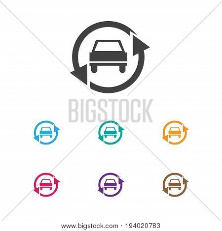 Vector Illustration Of Car Symbol On Upgrade Automobile Icon. Premium Quality Isolated Tuning Auto Element In Trendy Flat Style.