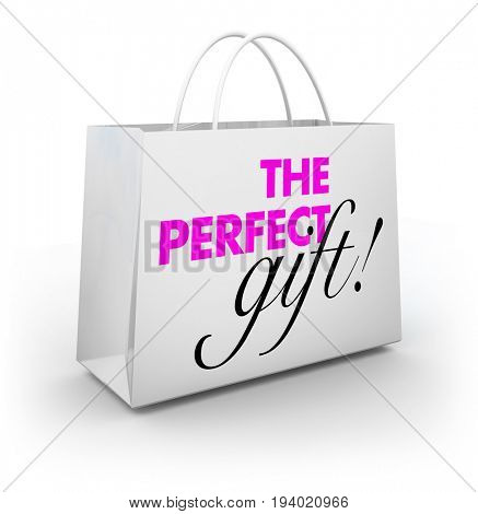Perfect Gift Shopping Bag Buy Present Store 3d Illustration