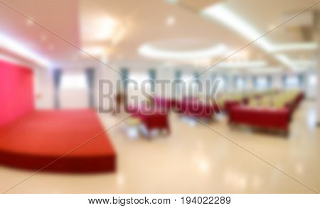 Conference hall or seminar room with attendee Blured background
