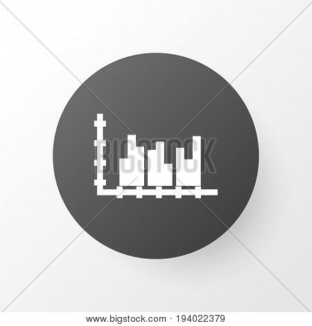 Grouped Graph Icon Symbol. Premium Quality Isolated Data Stats Element In Trendy Style.
