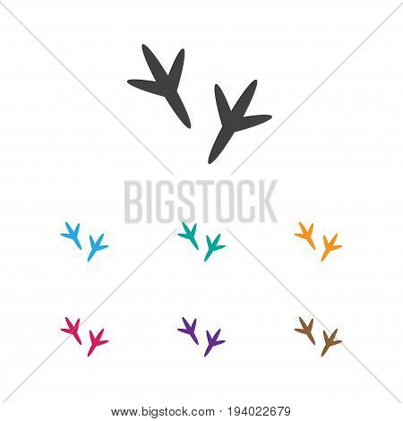 Vector Illustration Of Animal Symbol On Chicken Feet Icon. Premium Quality Isolated Footprint Element In Trendy Flat Style.