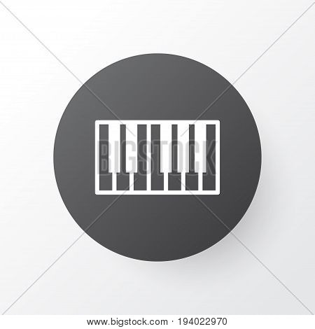 Synthesizer Icon Symbol. Premium Quality Isolated Piano Element In Trendy Style.