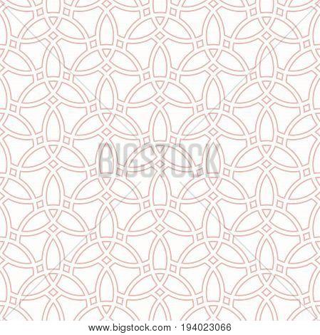 Seamless vector pink ornament. Modern background. Geometric modern pattern