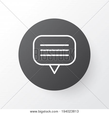 Unread Letter Icon Symbol. Premium Quality Isolated Text Bubble Element In Trendy Style.