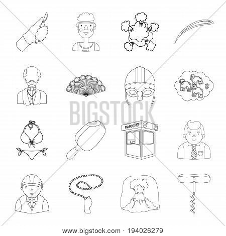 construction, finance, medicine and other  icon in outline style. sport, transportation, religion icons in set collection.