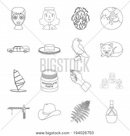 people, bottle, wineand other  icon in outline style.sports, finance, medicine icons in set collection.