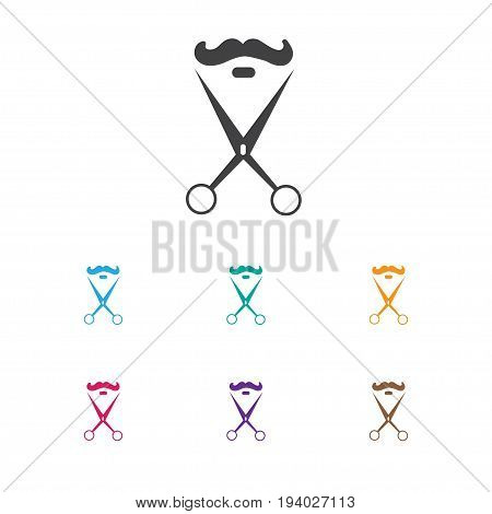 Vector Illustration Of Coiffeur Symbol On Trimming Icon. Premium Quality Isolated Stylist Element In Trendy Flat Style. poster