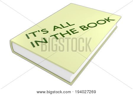 It's All In The Book Concept