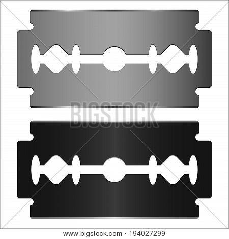 steel blade razor on white background vector illustration