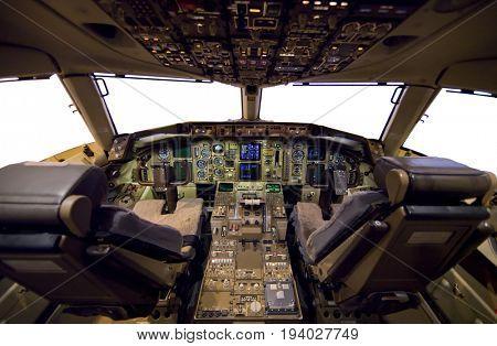 Aircraft Cockpit empty