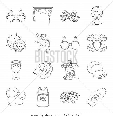 veterinary medicine, medicine, sport and other  icon in outline style.atelier, food, alcohol icons in set collection.