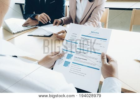 Business Situation Job Interview Concept. Business Find New Job.