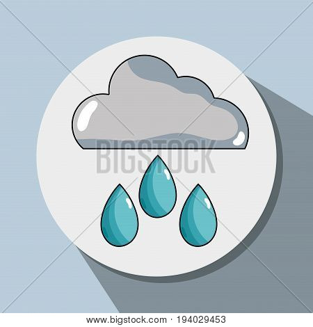 cloud raining and natural waether conservation vector illustration