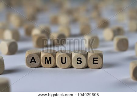 Amuse - Cube With Letters, Sign With Wooden Cubes