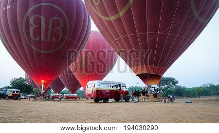 Hot Air Balloon Flights In Bagan, Myanmar