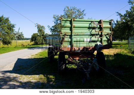 Trailor On A Farm