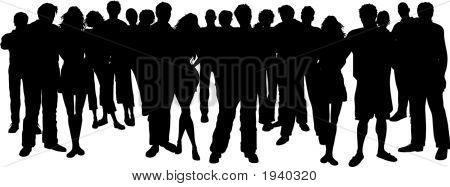 Große Gruppe von Menschen